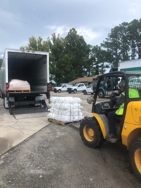 Sandbags delivered for residents to take home