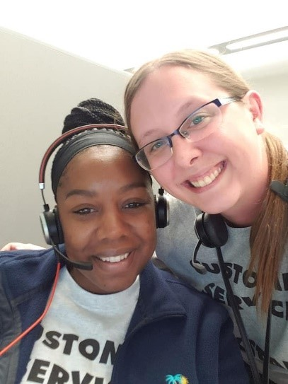 Tracey Hodges and another Customer Service team member