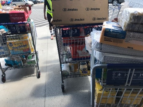 Photo: Groceries to feed City employees