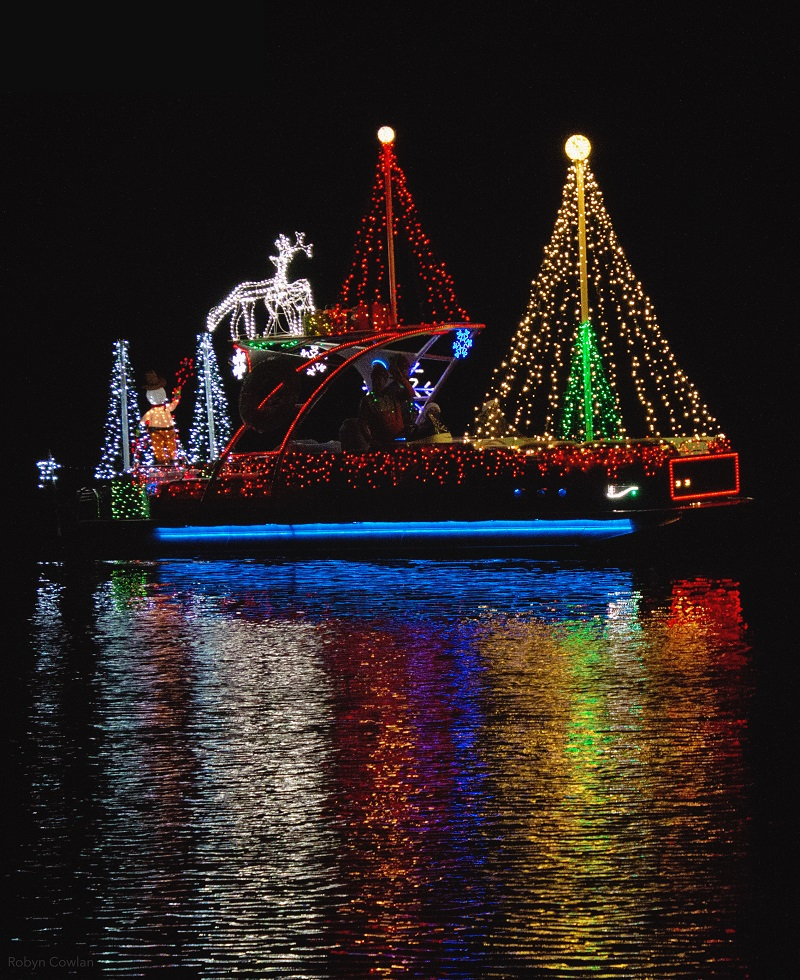 Holiday Boat Parade by Robyn Cowlan