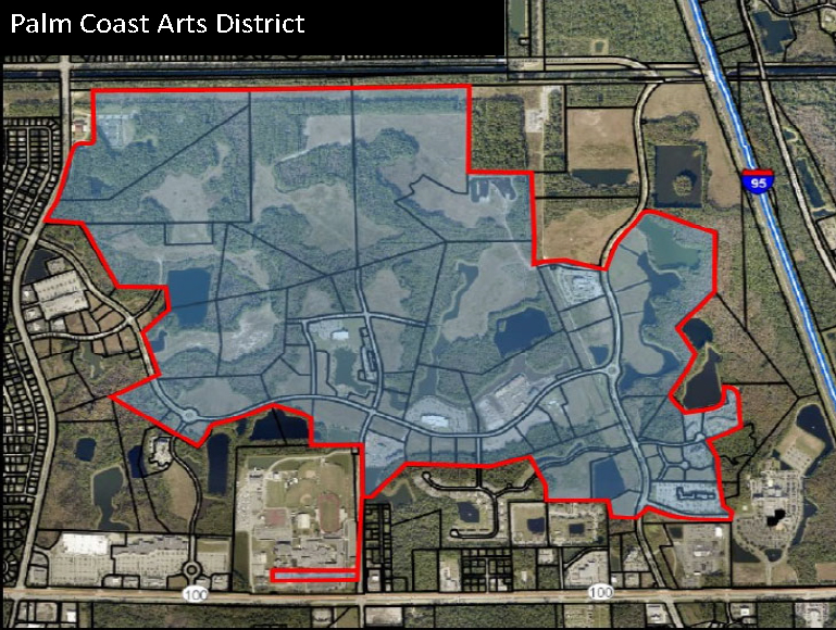 Palm Coast Arts District Map of Designated Area