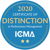2020 Certificate of distinction from ICMA