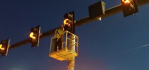 Traffic signal repairs on Palm Coast Pkwy