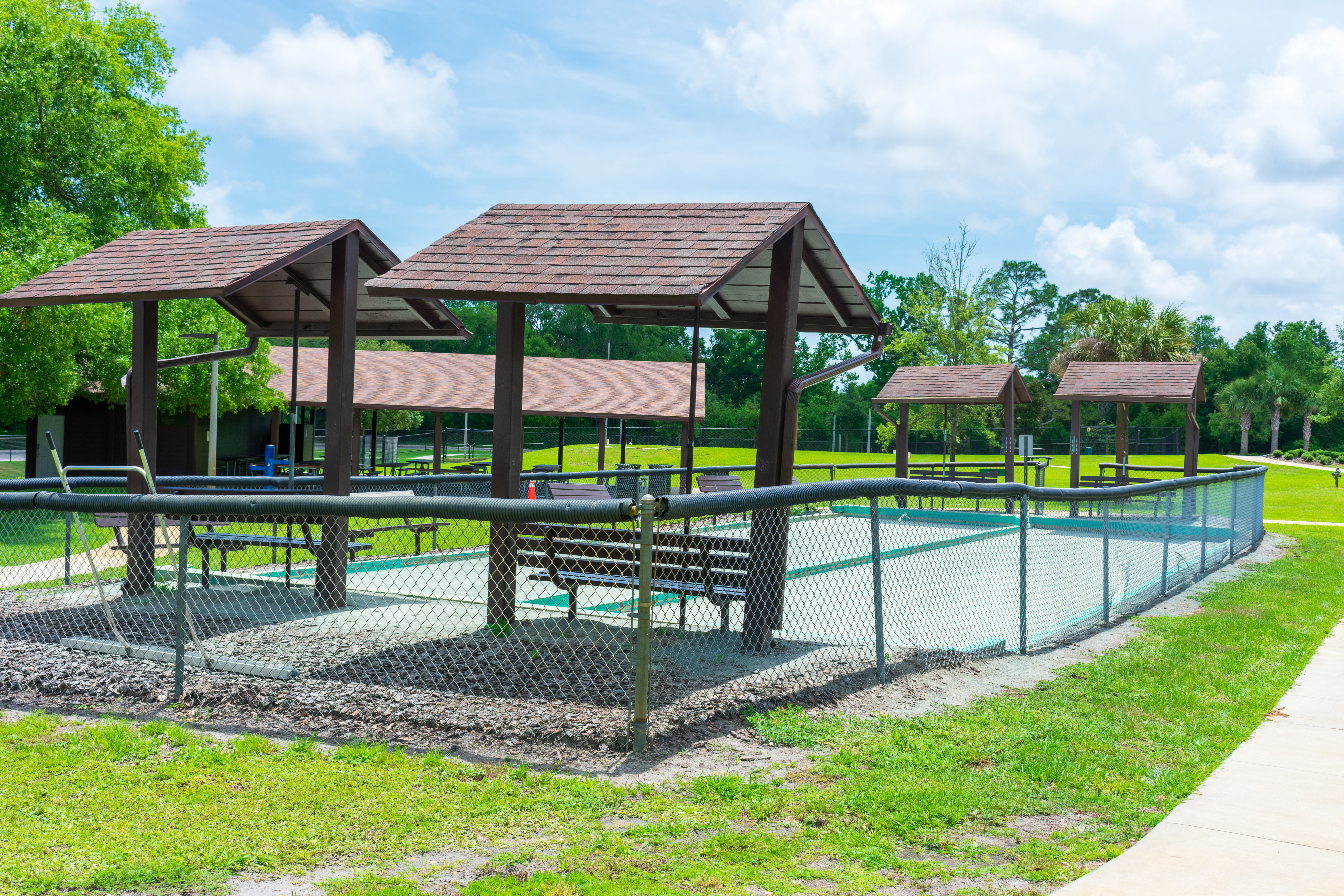 bocce ball courts to be replaced and improved
