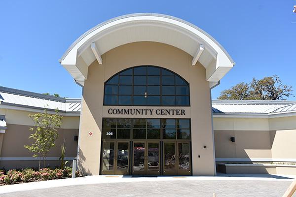 Community center park city of palm coast florida for Palm beach gardens recreation center