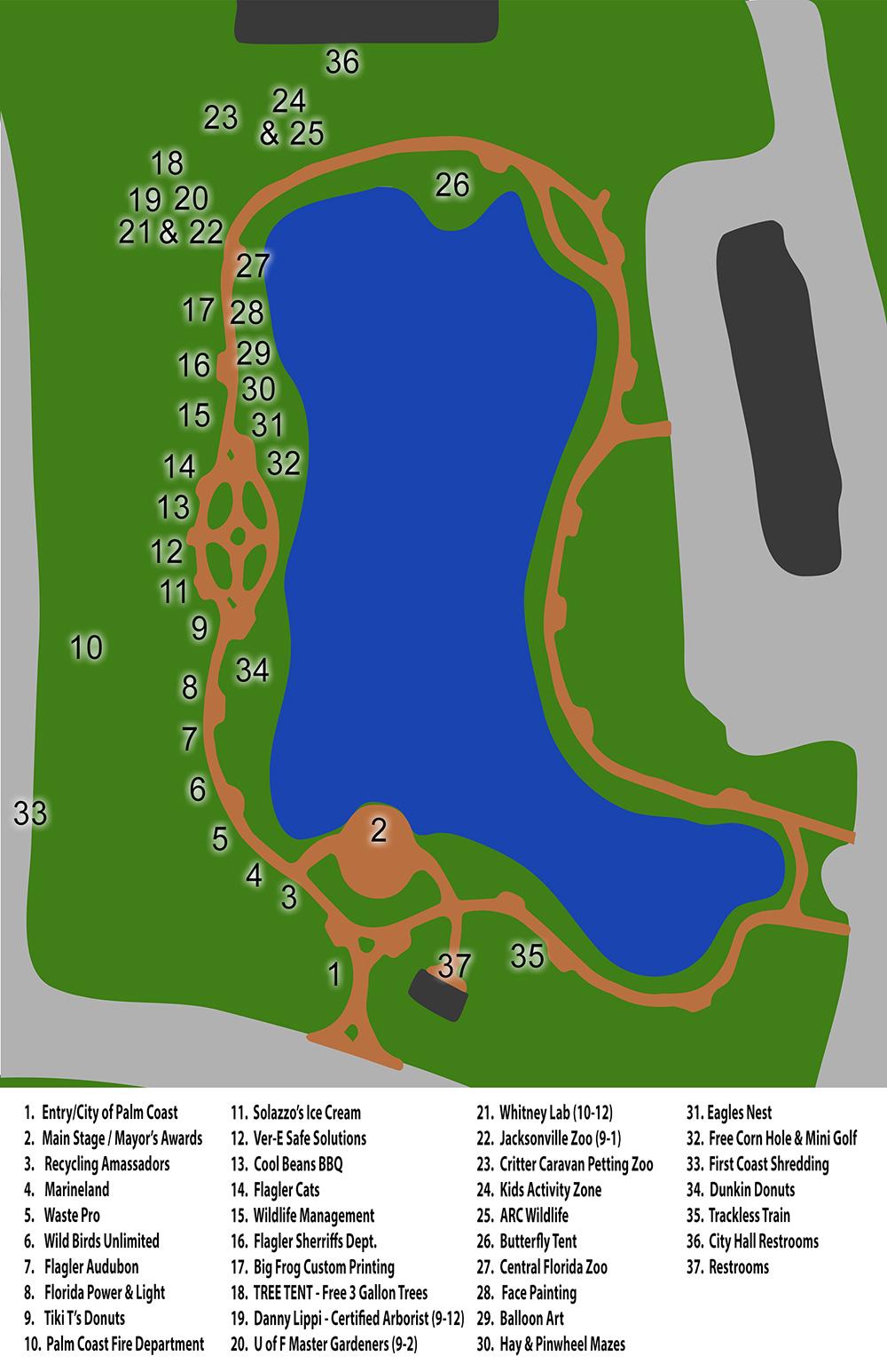 Map Of Palm Coast Florida.Event Map City Of Palm Coast Florida