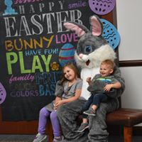 Easter Bunny with children