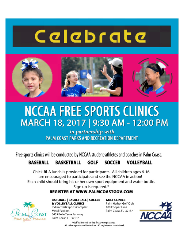 NCCAA Youth Sports Clinic Flyer
