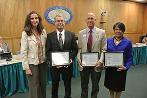 City staff recognized for achieving Florida Water Star Certifier status at October 7, 2014 City Council meeting