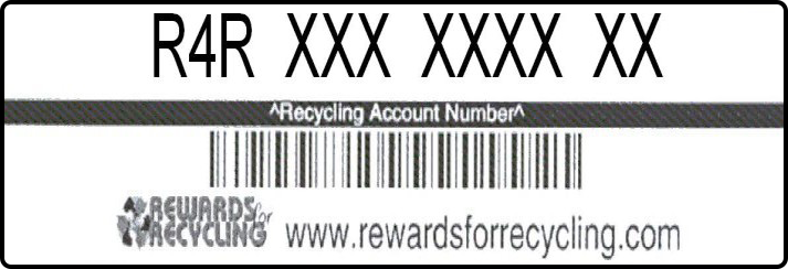 Recycling Rewards Sticker